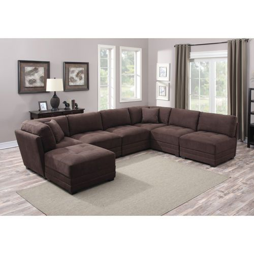 Taylor 7 Piece Fabric Modular Sectional $1300 Costco