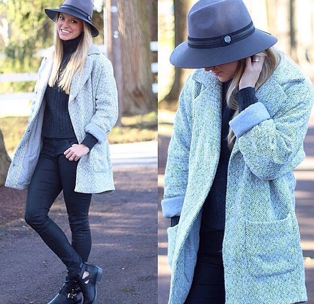 Coat and hat combo