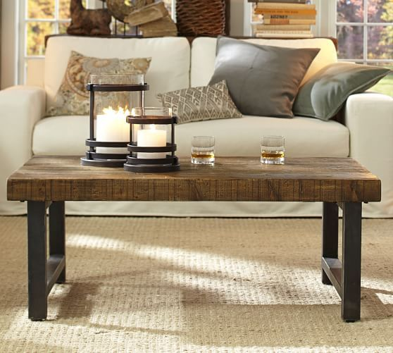 Griffin Reclaimed Wood Coffee Table  Pottery Barn  Living Room Awesome Dining Room Tables Pottery Barn Inspiration