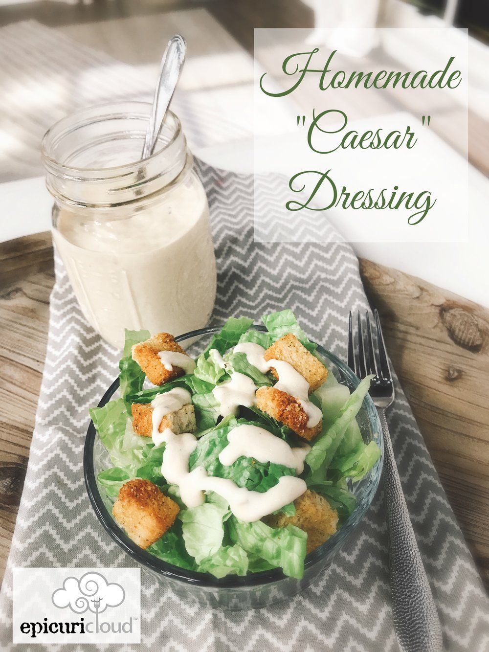 Buttermilk Ranch Dressing And Dip Recipe Caesar Dressing Homemade Salad Dressing Homemade Ceasar Dressing