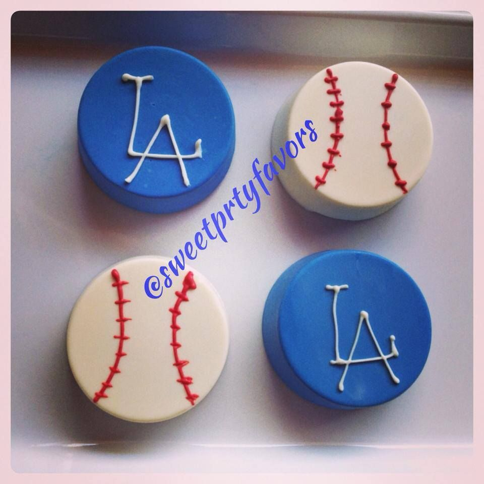 Los Angeles Dodgers Theme Chocolate Covered Oreos Sweet Party