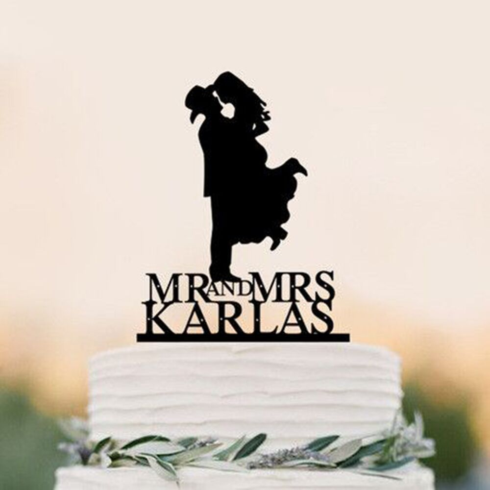 Country Western Wedding Cake Topper Silhouette Cowboy With Hat Both Wearing B Country Wedding Cake Toppers Western Wedding Cakes Wedding Cake Topper Silhouette