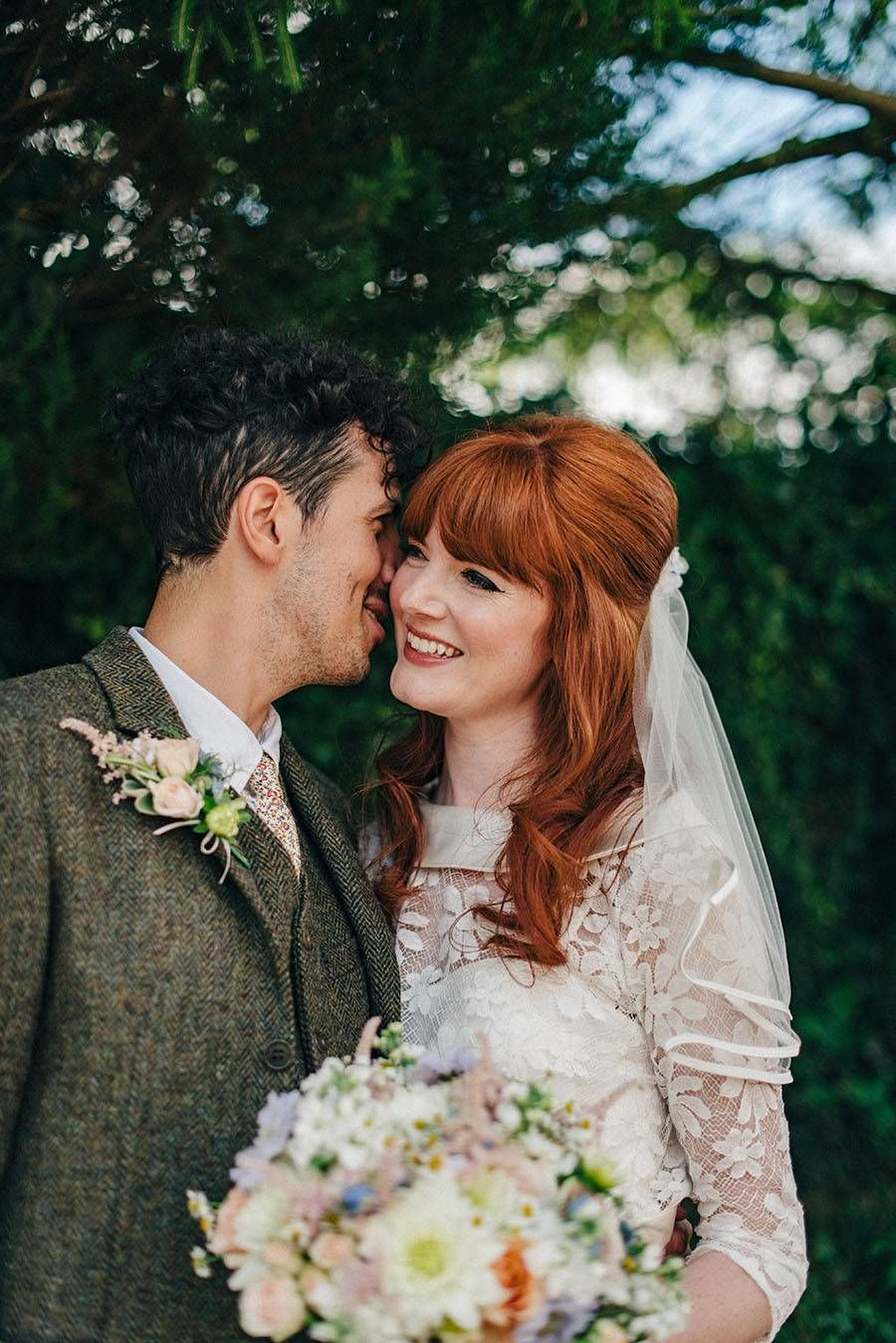 60s Style Bride & Real Wedding with Kitsch