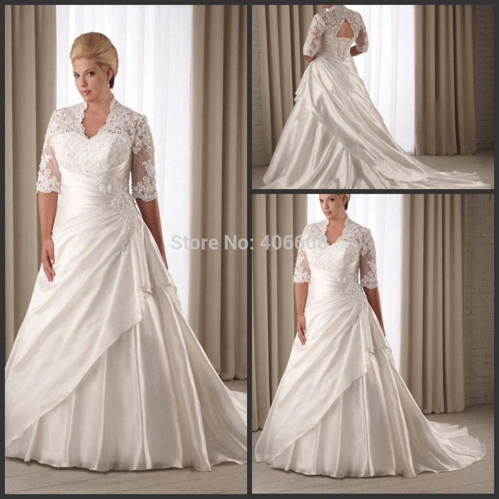 Find more wedding dresses information about new design a line v neck