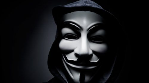 This Anonymous Mask HD Wallpaper Is Perfect For Illustrating Hacker Symbol Its Featured With Close Up Photo Of In Black And White