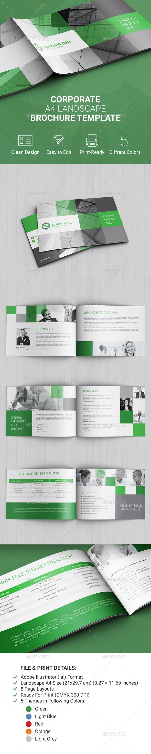 Corporate Landscape Brochure  Corporate Brochure Brochures And