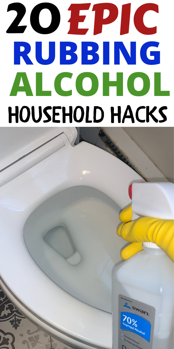 20 Household Uses of Rubbing Alcohol You've Never Thought Of that you should know immediately  #householdhacks