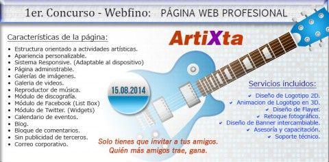 Concurso N° 001:  PÁGINA WEB PROFESIONAL - ARTIXTA