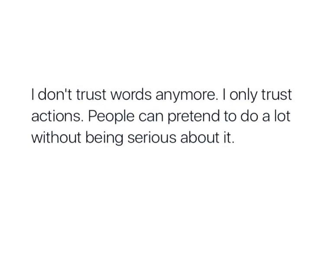 Trust Actions Not Words | Kate Eckman