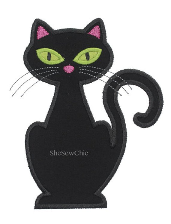 Cat Halloween Digital Applique Embroidery Design 042 Products