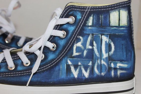 e0efc2863d45 We are on CHRISTMAS vacations The Bad Wolf Doctor by LRsWorkshop Doctor Who  Converse