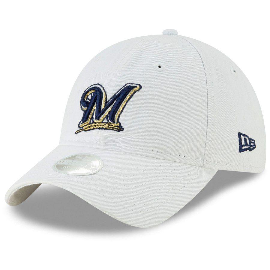 3f8486d68 Women's Milwaukee Brewers New Era White Core Classic 9TWENTY Adjustable Hat,  Your Price: $21.99
