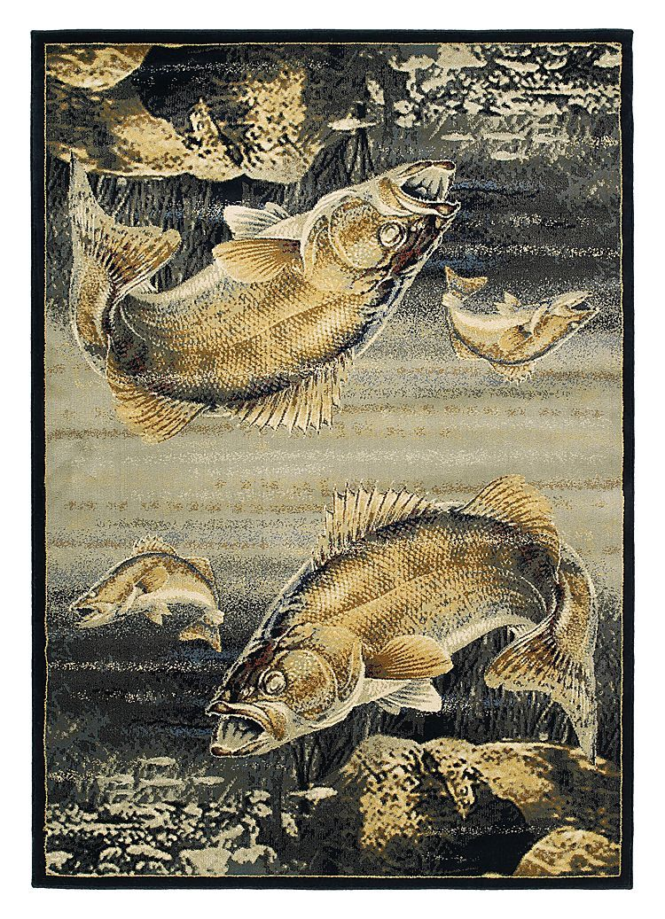 Buckwear Wildlife Themed Area Rugs Walleye Predator Bass Pro