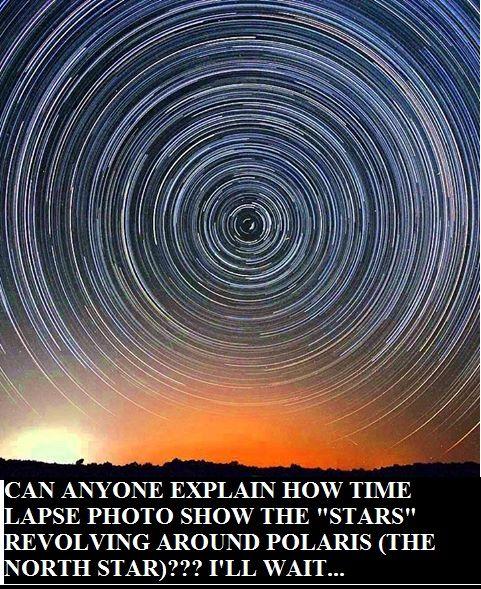 Time lapse of stars rotating around Polaris (North Star ...