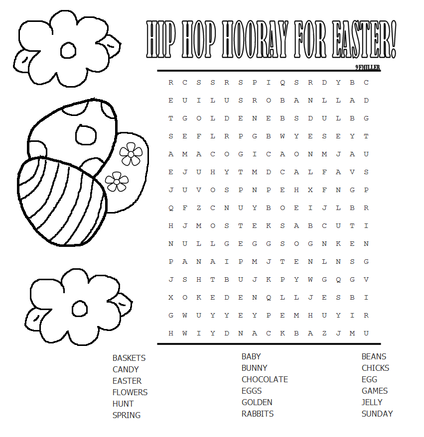Mary\'s Craft Nook: Printables: Easter Themed Coloring Sheets & Word ...
