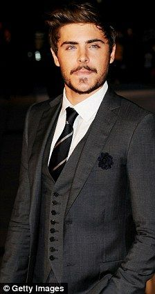 Another Simon Spurr suit worn by Zac Efron | Suit and tie ...