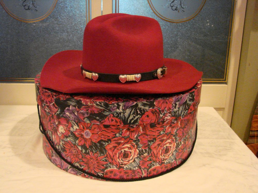 WRANGLER RIATA WOMEN S CRANBERRY WESTERN COWBOY WOOL HAT w  FLORAL HAT BOX   fashion  clothing  shoes  accessories  womensaccessories  hats (ebay link) 4d7e220863ee