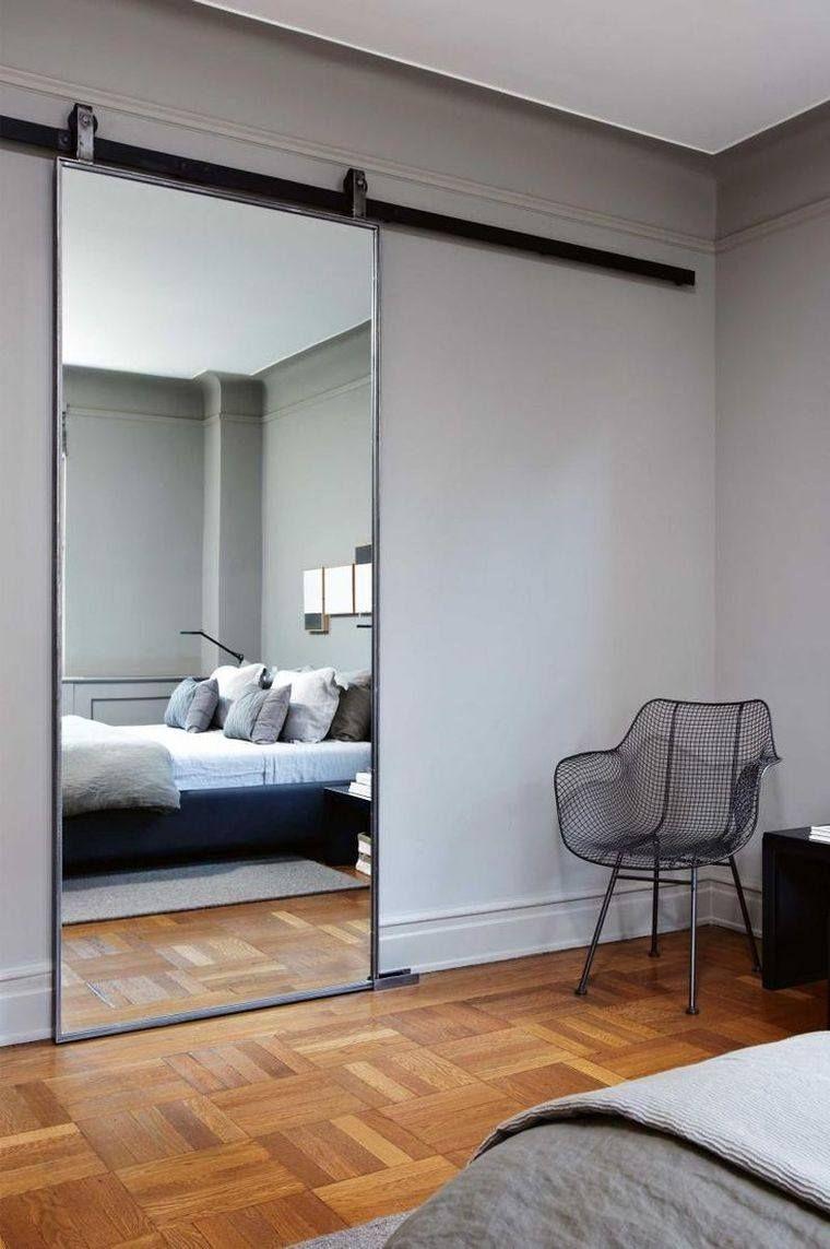 porte coulissante salle de bain miroir-suite-parentale-amenagement