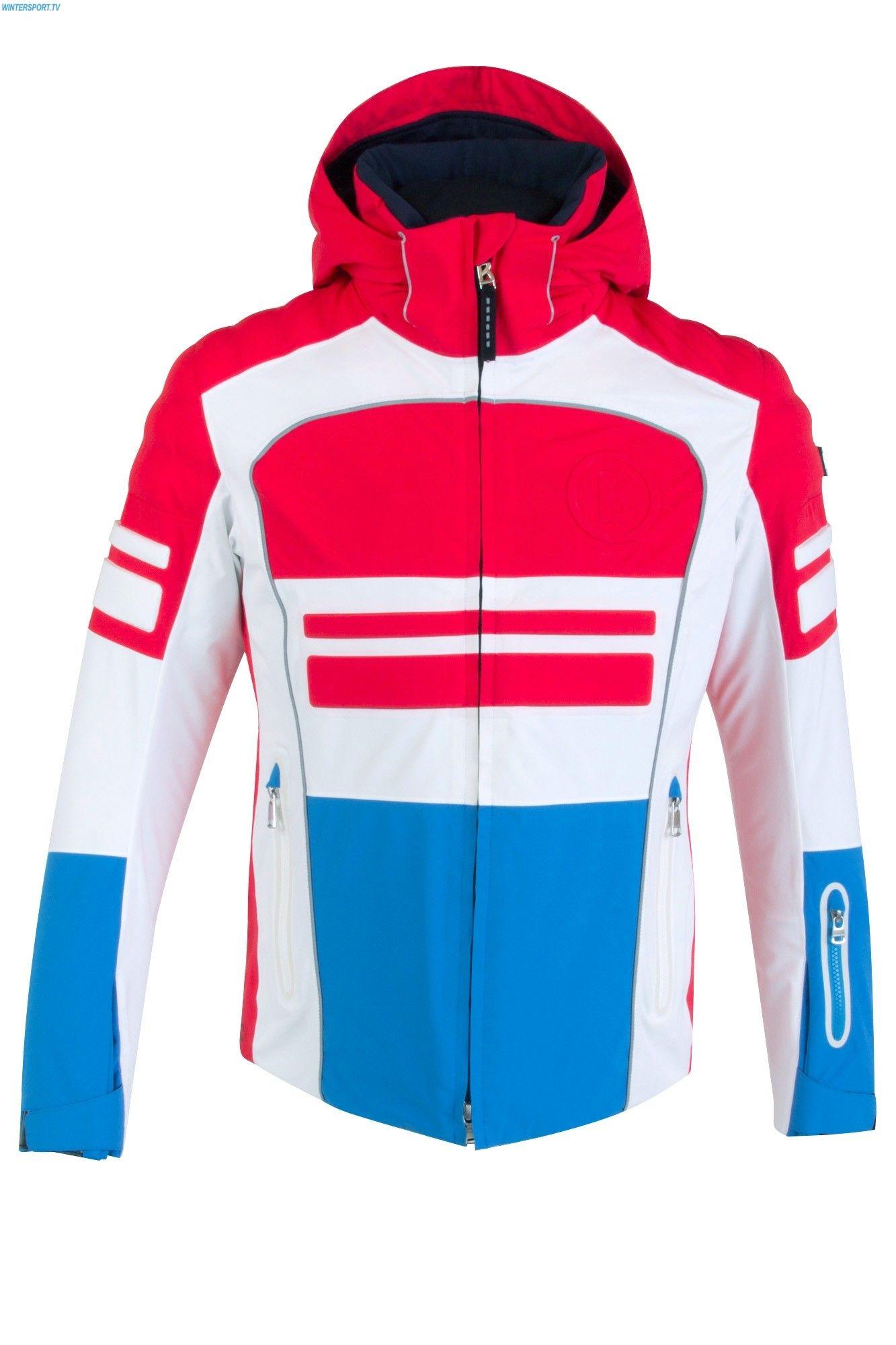 4dfd528adf Bogner Men Race T Jacket - Hot Red Ocean Blue