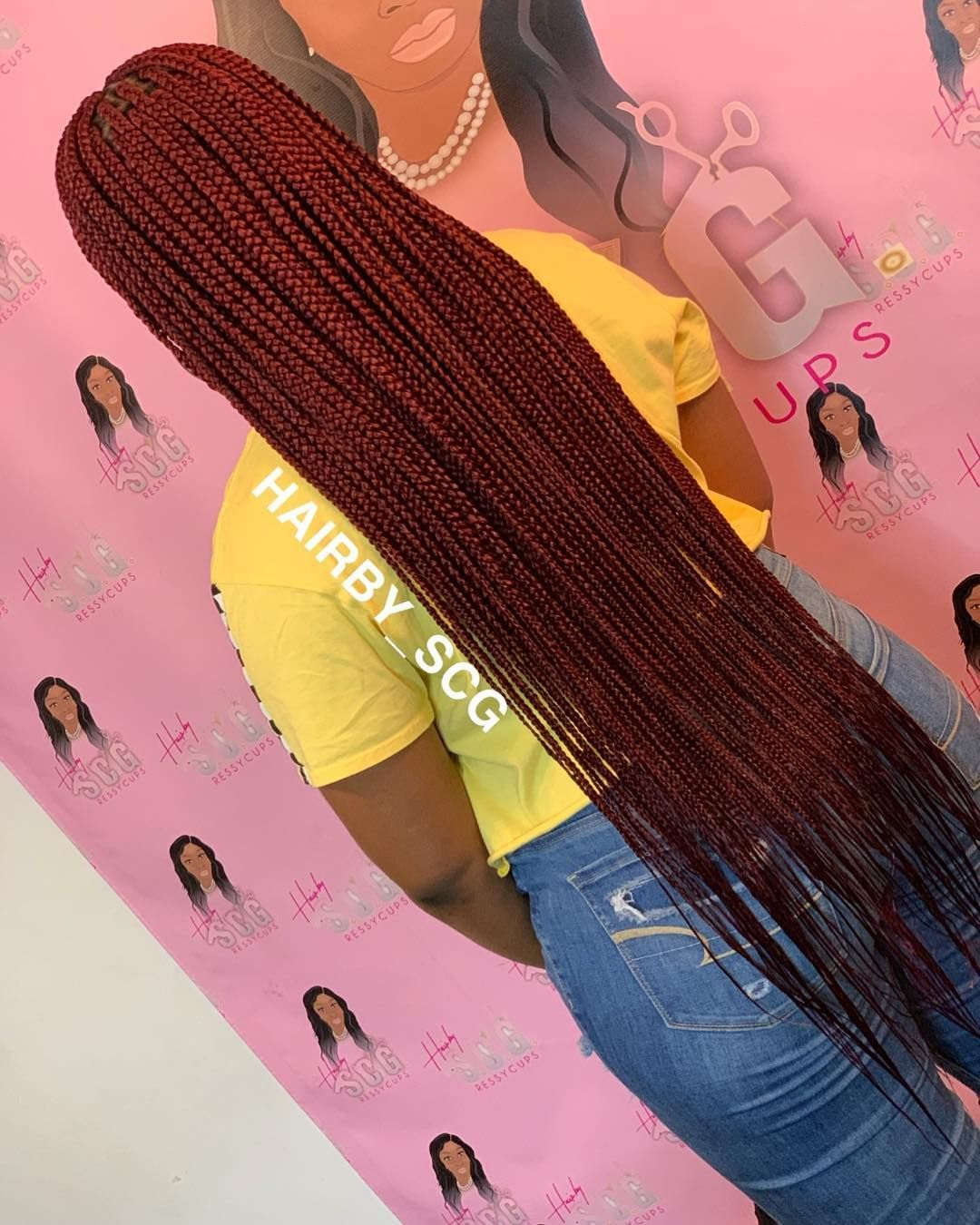 Long box braids #Parts #TriangleBraids #trianglepart #boxbraids #braids #scBraider #boxbraid #small #braids #scbraider #plaits #cleanparts… #longboxbraids