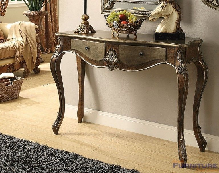 Acme Furniture Kelsey Console Table Bronze Taupe