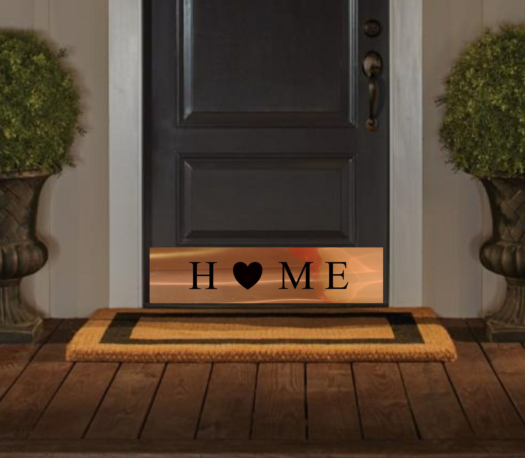 Home Cut Out Door Kick Plate. Available In Copper, Brass, Stainless Steel,