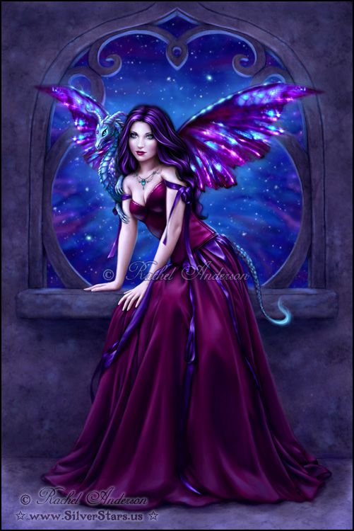 Andromeda Dragon Art ~ Artwork by Rachel Anderson http://silverstars.us