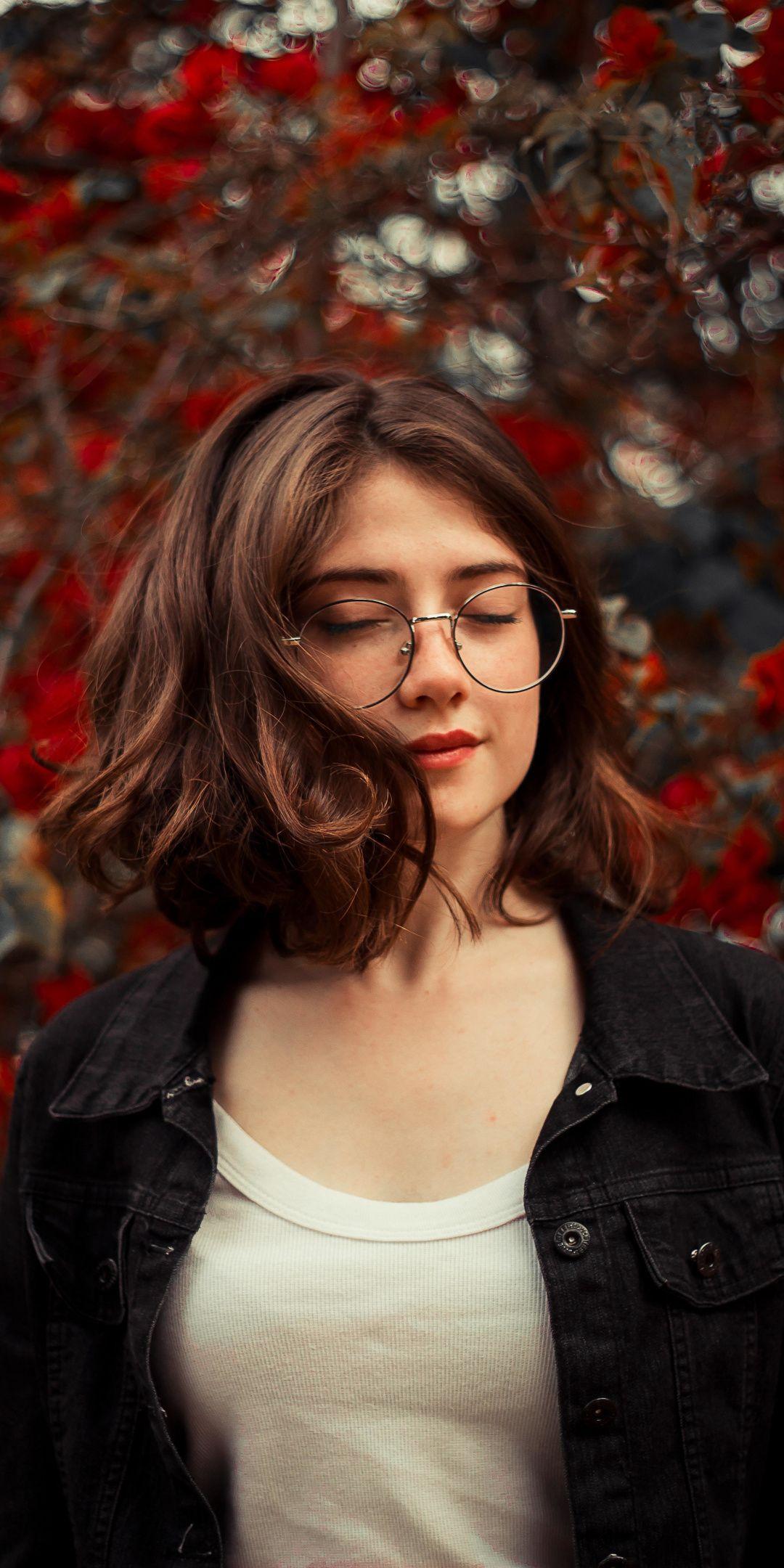 Close Eyes Cute Girl Model 1080x2160 Wallpaper Em 2019