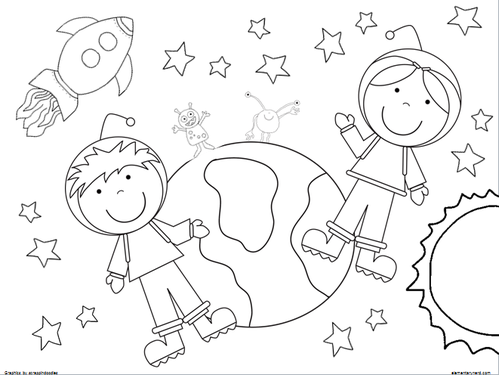 out of this world free coloring sheets - Elementary Coloring Pages