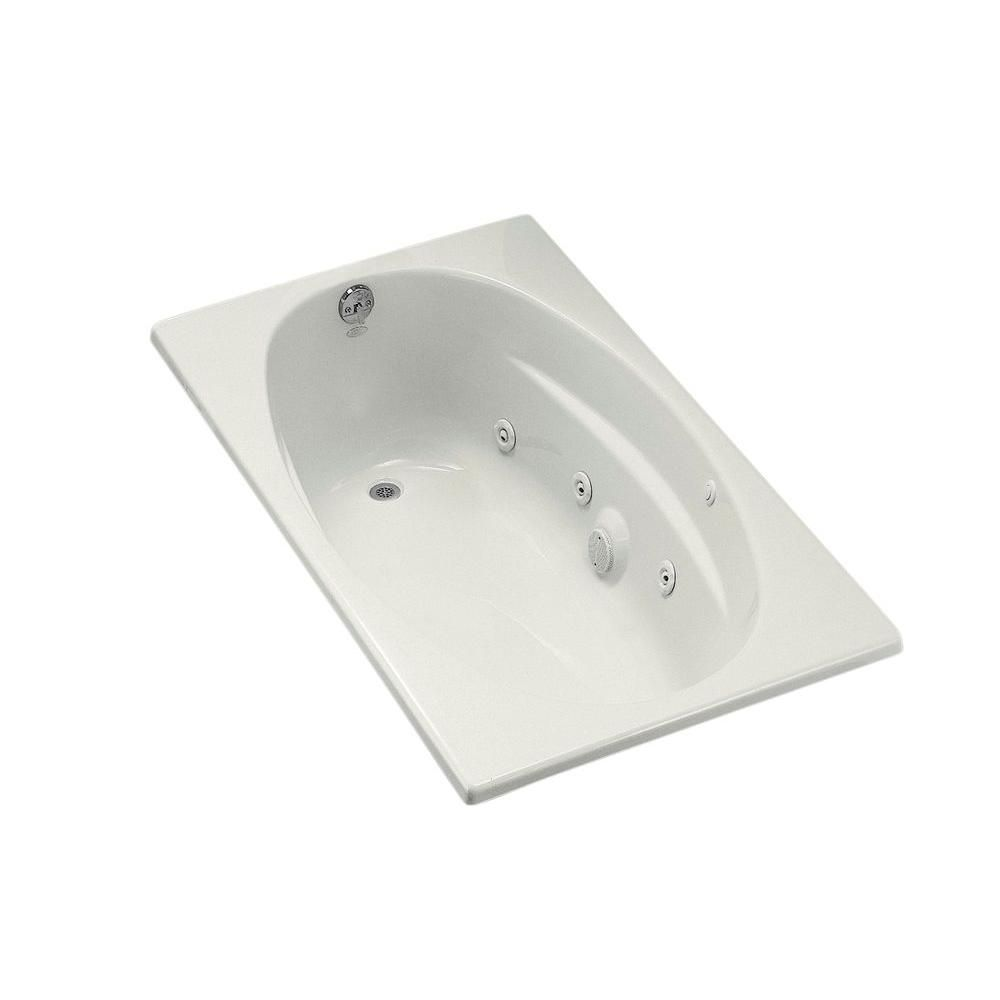KOHLER 5 ft. Acrylic Oval Drop-in Whirlpool Bathtub in ...