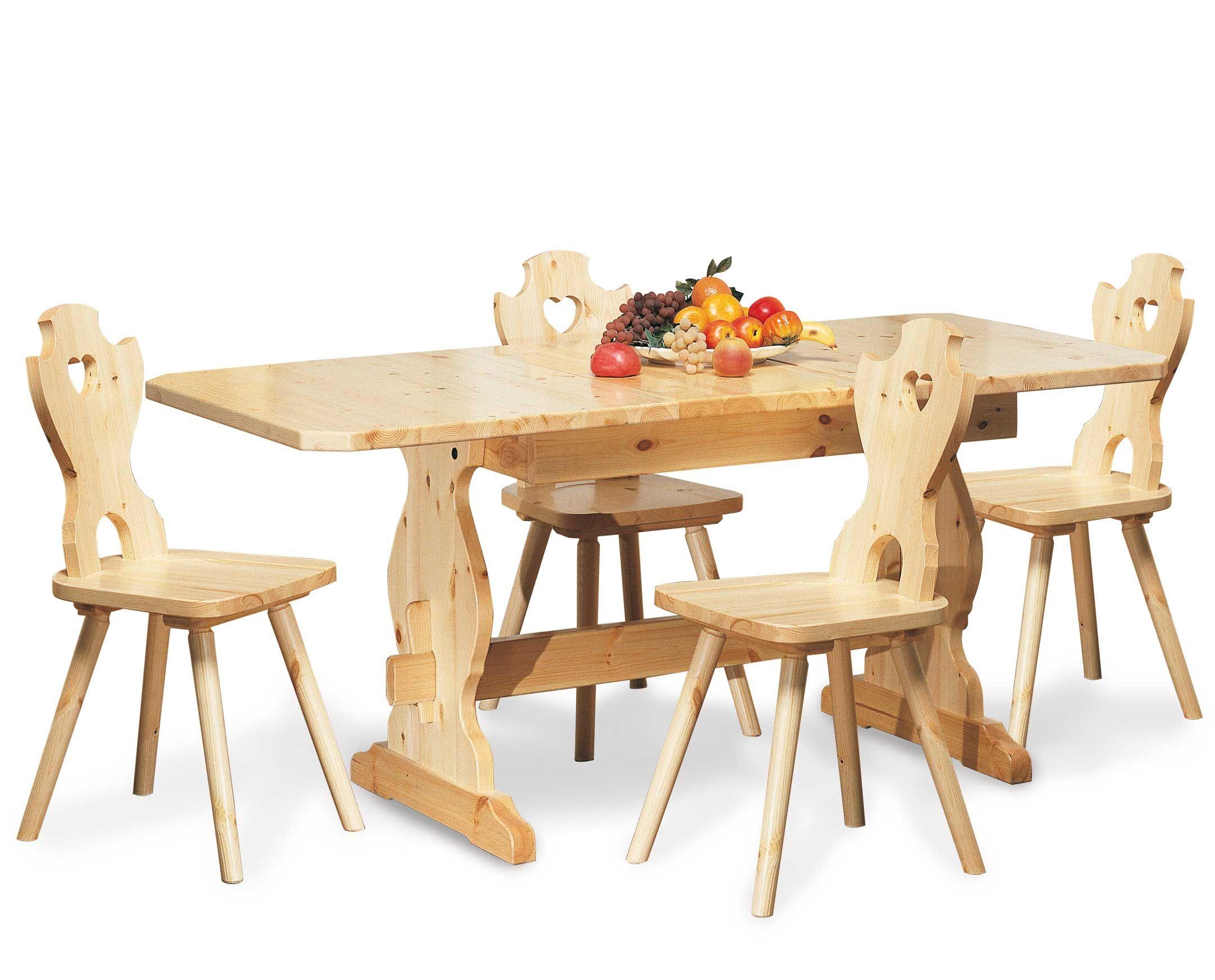 Tavolo rustico allungabile proposto in abinamento con sedie ...