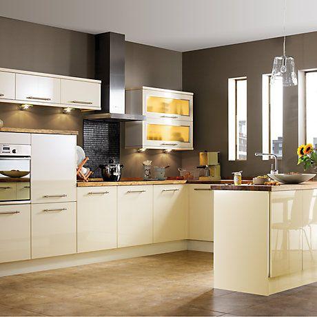 Shop Kitchen Ranges Diy At B Q Contemporary Kitchen Kitchen Cabinets And Flooring Bungalow Kitchen