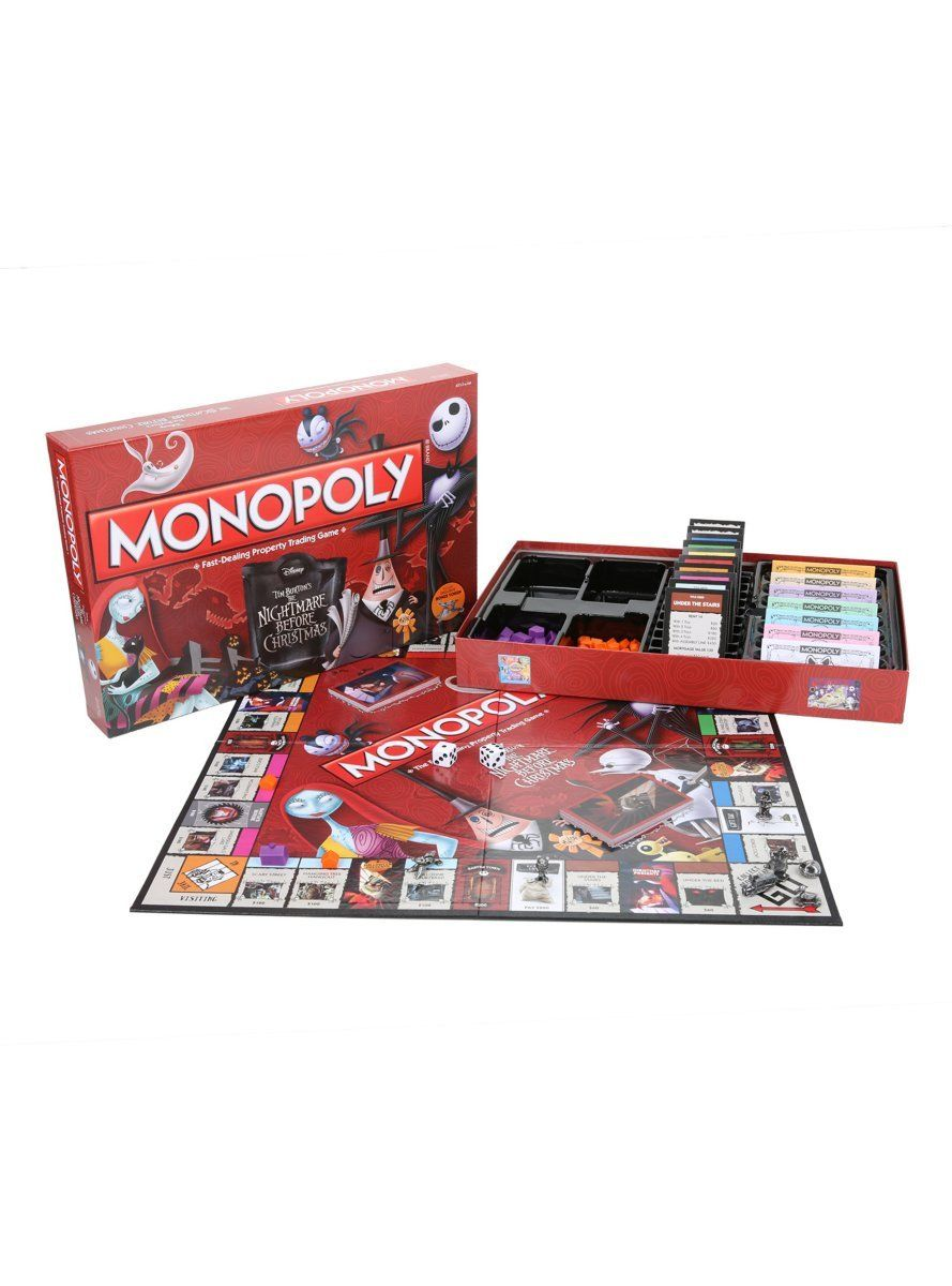 Monopoly The Nightmare Before Christmas Board Game Hot Topic ...