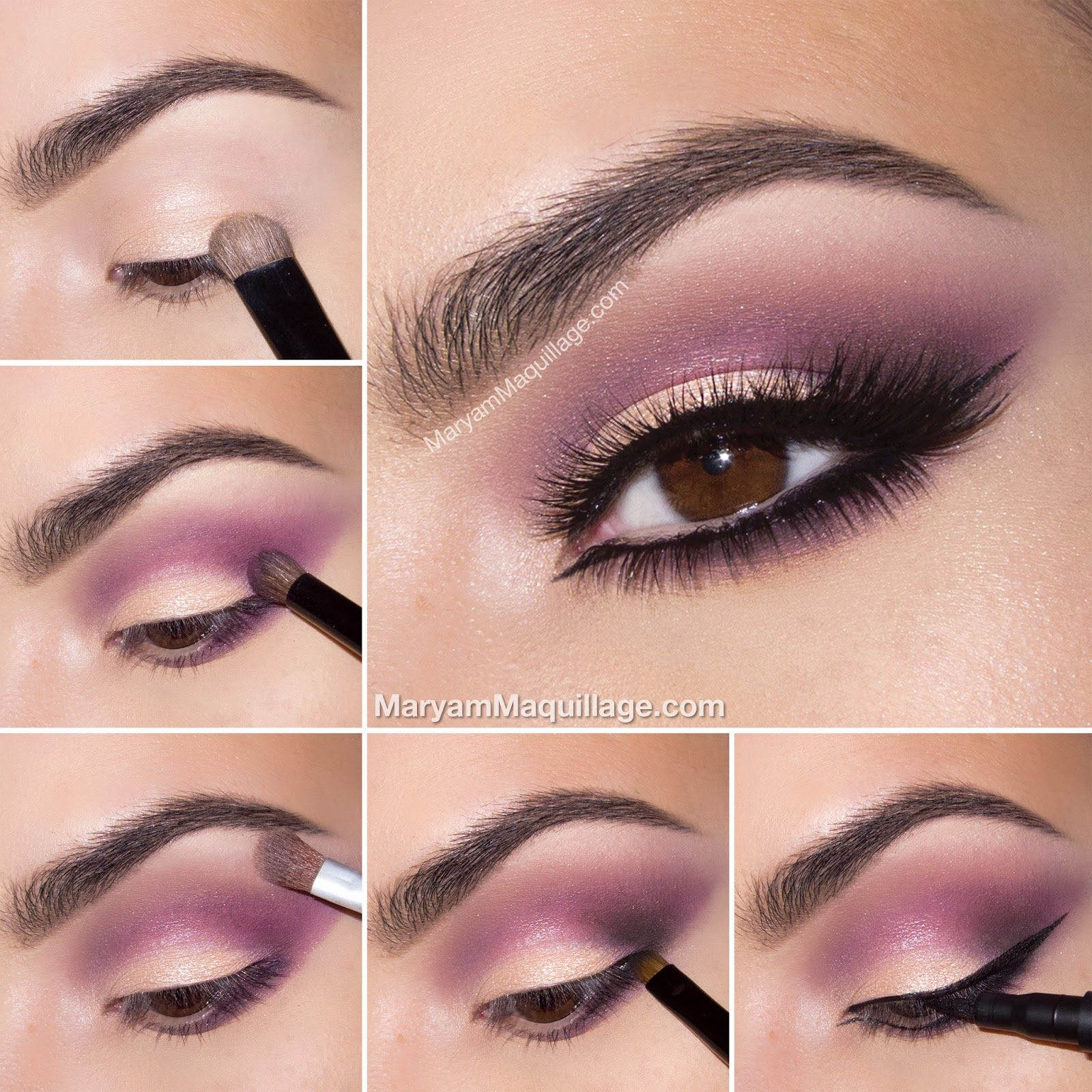 Peaches N Cream Spring Makeup Outfit Purple Eye Makeup