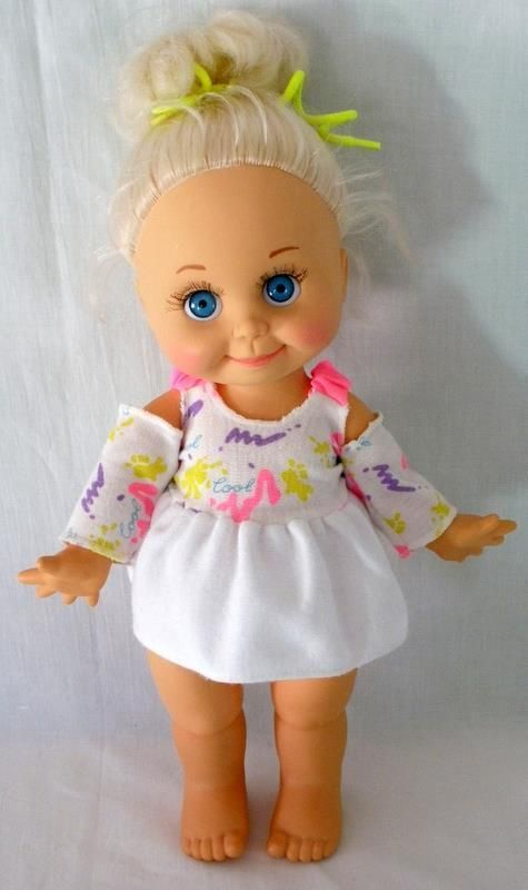 1990 Galoob Baby Face So Sweet Sandi Doll In Original Outfit 12 Inches Tall #Galoob #DollswithClothingAccessories