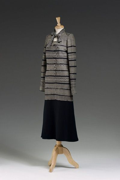 """Dress suit, by Gabrielle """"Coco"""" Chanel, French, 1925-29."""