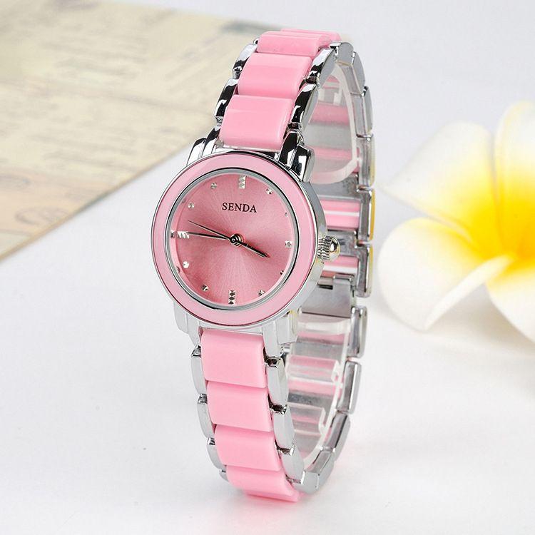 awesome Acrylic Links Cute Pink Girls Fashion Lady Watch Hot New ...