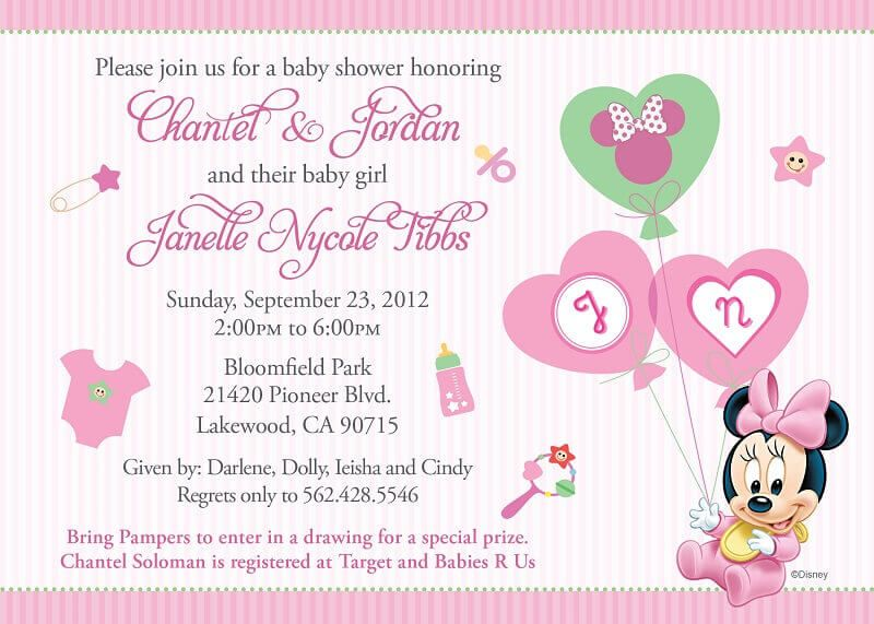 Wording For Baby Shower Invitation  Baby Time