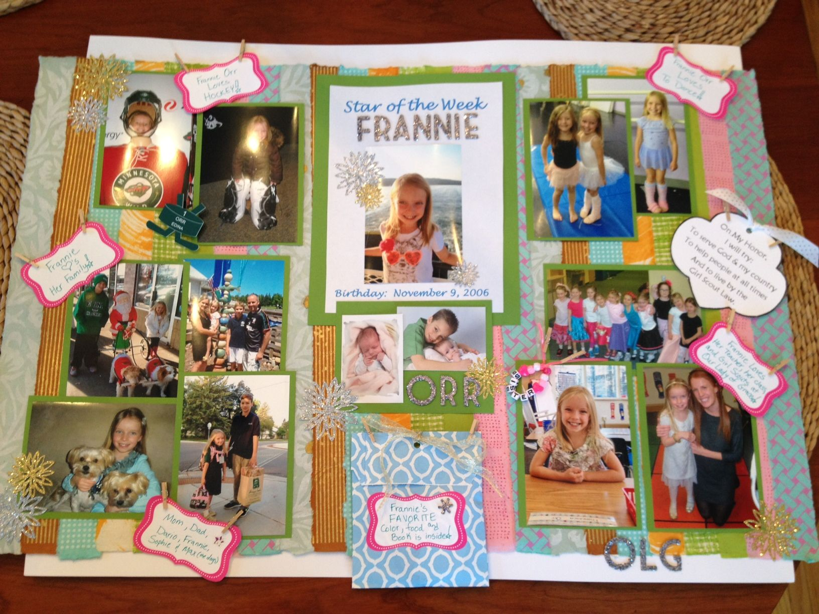 How to make scrapbook for school project - Frannie S Kindergarten Star Of The Week Board Timeline Projectschool Postersschool Projectsschool Ideaskids