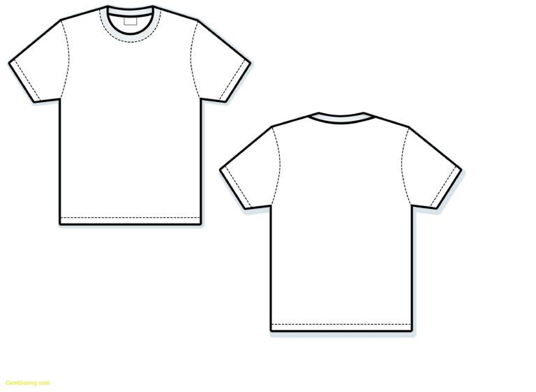 T Shirt Vector Template Awesome Blank T Shirt Free
