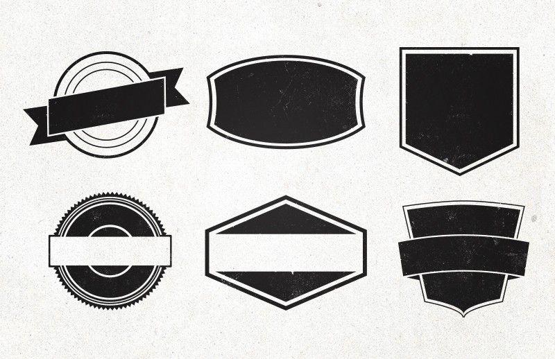 Vintage Emblem Shapes Desain Logo Desain Animasi