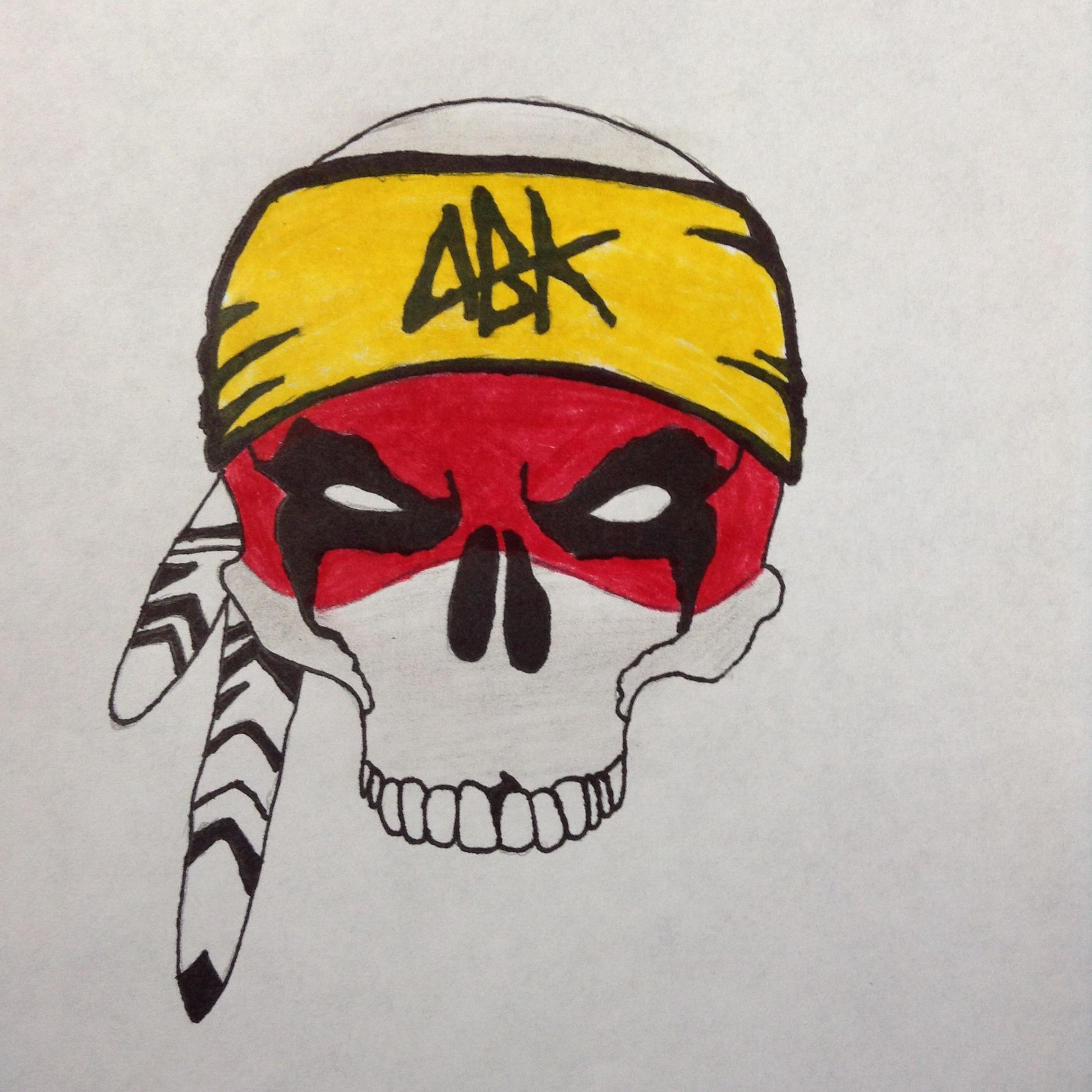 Abk Skull Logo Want To See More Go Follow My Drawing Account I Post There First Skull Art My Drawings Drawings