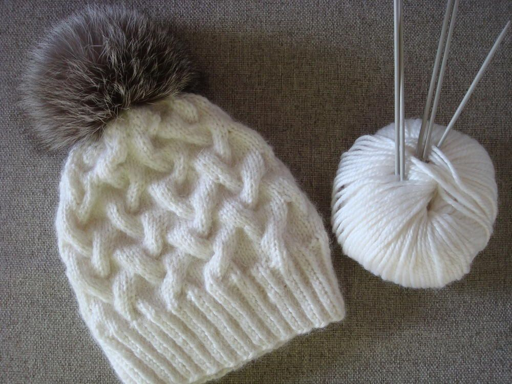 Snowy Scene Cable Hat | Yarns, Cable and Scene