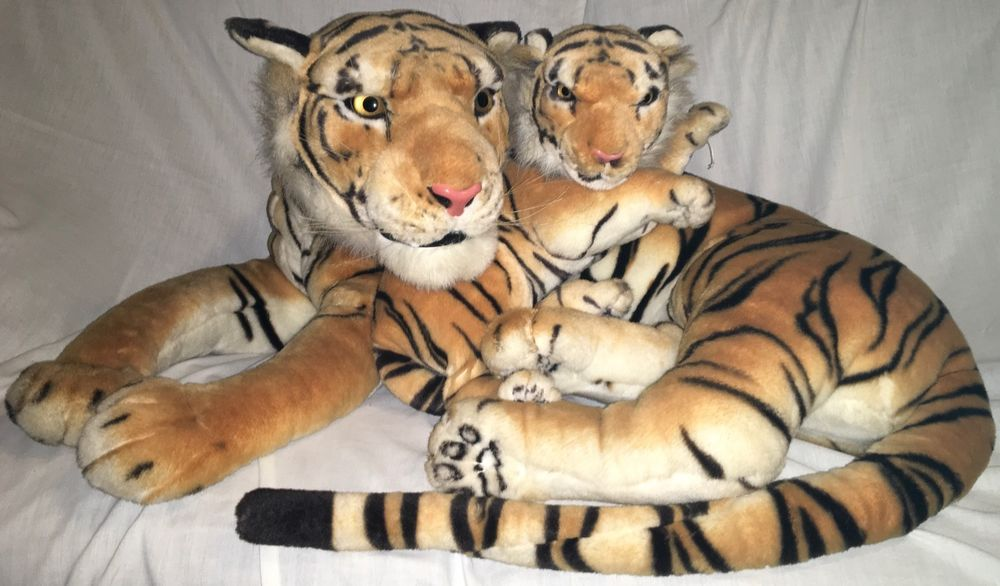 Huge Realistic Bengal Tiger Mother Cub Plush Best Made Toys 33