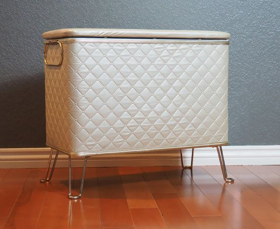 Red Man Vintage Clothes Hamper Storage Bench Or Basket