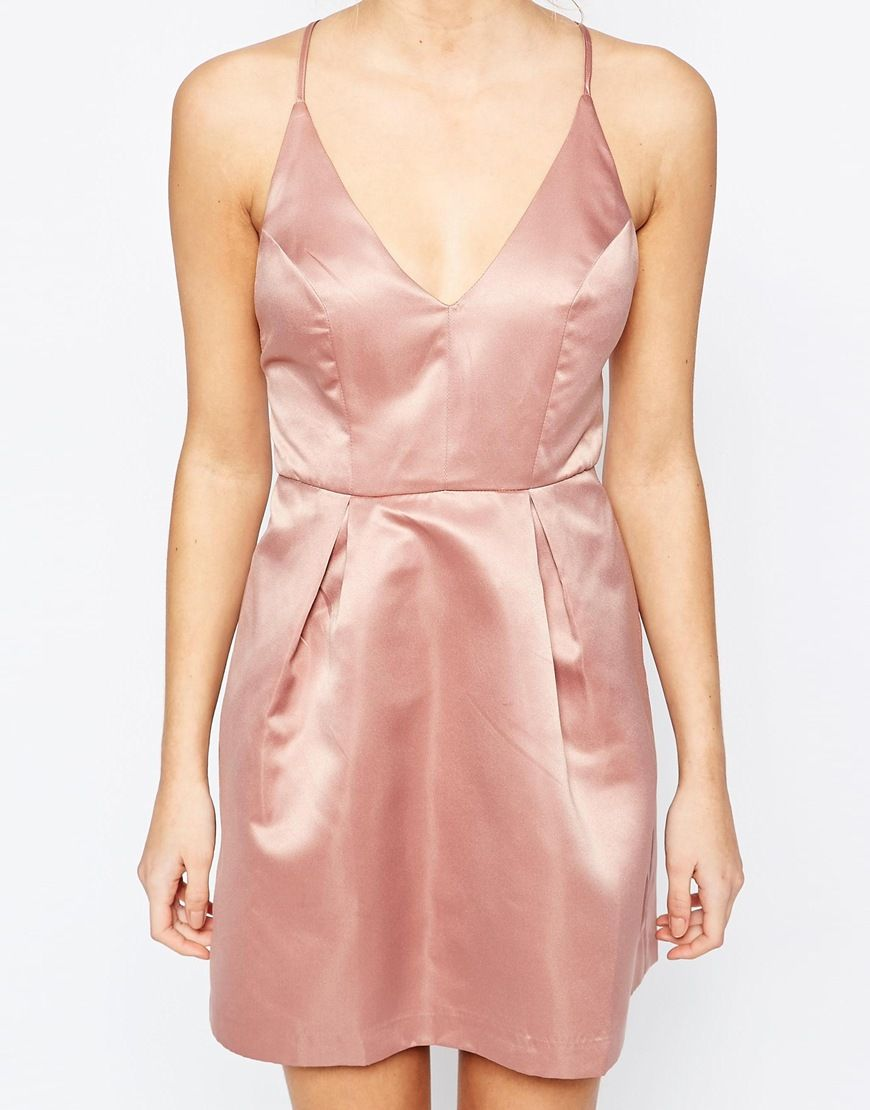 Image 3 ofTrue Decadence Mini Prom Dress With Cami Strap Detail