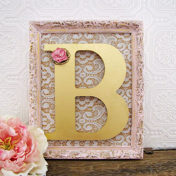 Pink and Gold Nursery Decor Baby Girl Nursery Custom Wall Letters ...
