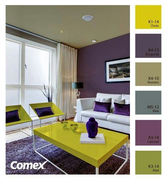 Con un toque morado sweet home pinterest wall colors for Colores para casa interior