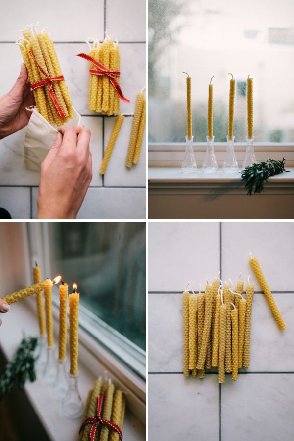 how to make beeswax candles oh happy day christmas pinterest abeilles les bougies et cire. Black Bedroom Furniture Sets. Home Design Ideas