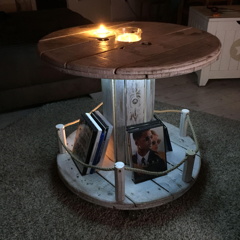 kabeltrommel shabby stil vintage maritim tisch shabby design pinterest kabeltrommel. Black Bedroom Furniture Sets. Home Design Ideas
